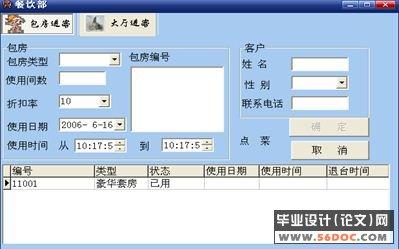 酒店管理信息系统设计报告