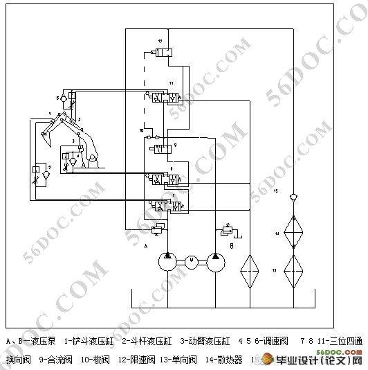 挖掘机液压系统设计_挖掘机液压系统论文图片