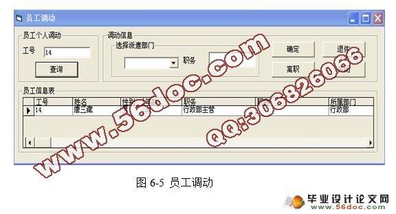 企业人事管理系统的设计与实现 VB,Access